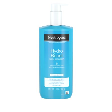 Neutrogena Hydro Boost Body Gel Cream, Fragrance-Free, 16 oz