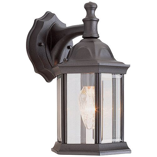 "BelAire Rotunda 12"" Outdoor Coach Lantern, Black"