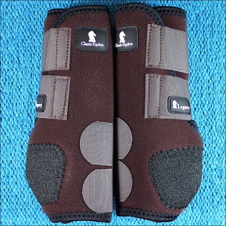 Classic Tall Boot Chocolate (MEDIUM CHOCOLATE CLASSIC EQUINE LEGACY SYSTEM HORSE HIND SPORT BOOT PAIR )