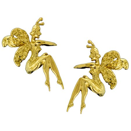 Farie Gold On Silver Ear Cuff Earrings