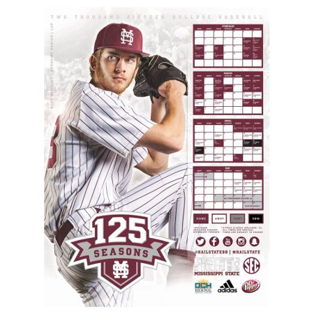 Mississippi State Bulldogs 2015 Baseball LHP Poster - No Size