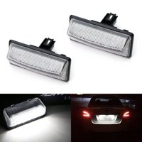 iJDMTOY (2) Xenon White OEM-Replace 18-SMD 3W LED License Plate Lights Assembly For Nissan Altima Maxima Murano Pathfinder Rogue Quest Infiniti QX56 QX60, etc