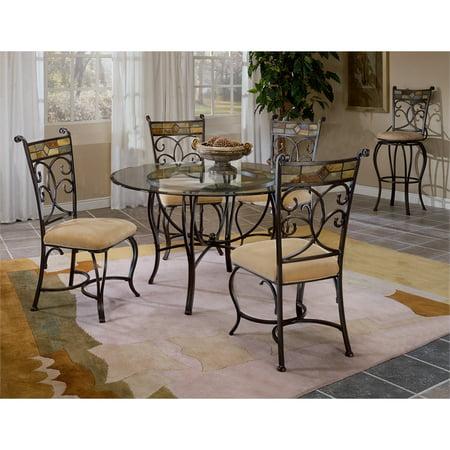 Hillsdale 6 Piece (Hillsdale Furniture Pompeii 5-Piece Dining Set with Chairs )
