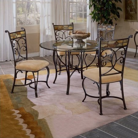 Hillsdale Furniture Pompeii 5-Piece Dining Set with Chairs
