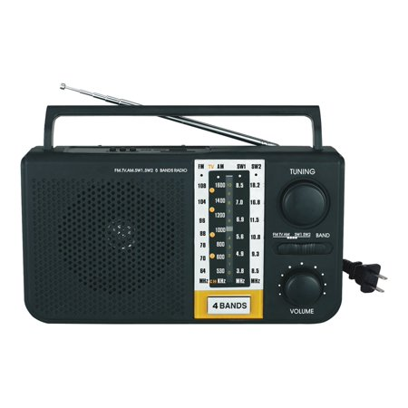 Mini Portable AM/FM/SW1/SW2/TV 5 Bands Radio with Built-In SD & USB Inputs New (Halloween Radio Spot)