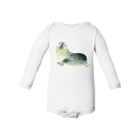 Seal Baby Boy Baby Girl Infant Long Sleeve Cotton Bodysuit Onesies for $<!---->