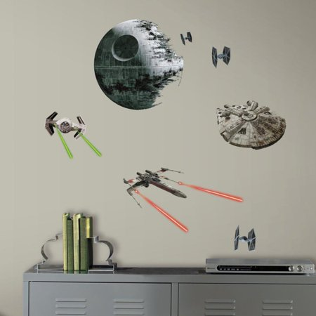 RoomMates Star Wars Episode VI Spaceships Peel and Stick Wall Decals - Star Wars Eye Chart