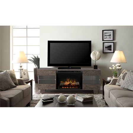 Dimplex Max Media Console Electric Fireplace With Logs for TVs up to 50