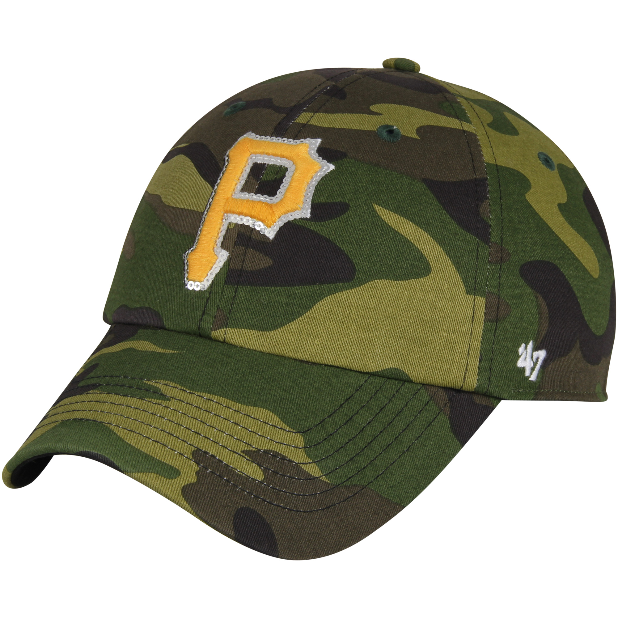 Pittsburgh Pirates '47 Women's Rosita Clean Up Adjustable Hat - Camo - OSFA