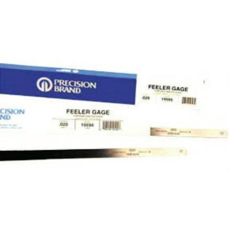 Precision Brand Flat Length Steel Feeler Gauges 0 001 in 12 in Length