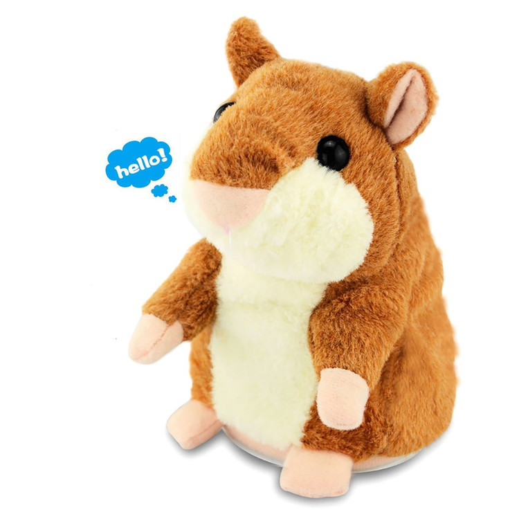 Lovely Talking Hamster Plush Toy Hot Cute Speak Talking Sound Record Toy