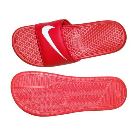 Nike Benassi Swoosh Mens Sandals (University Red/White) 8