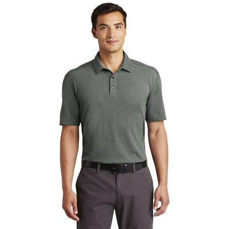 Port Authority 1235533 Men Coastal Cotton Blend Polo Shirt, Deep Black & White - Medium