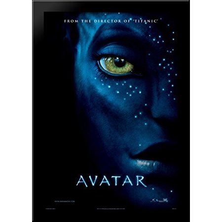 Avatar 28x40 Large Black Wood Framed Print Movie Poster Art