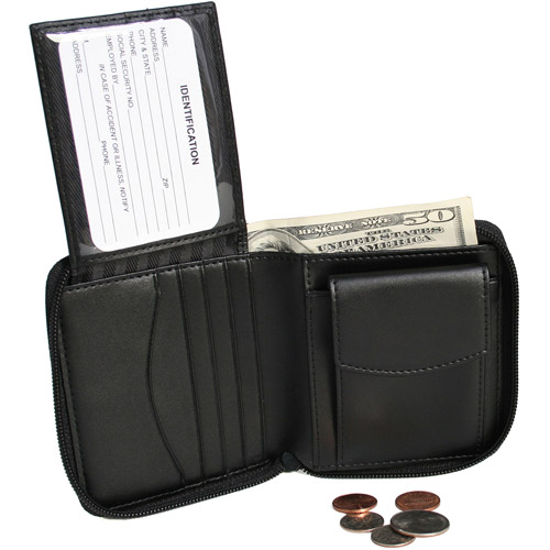 Royce Leather Zip Around Leather Wallet in Genuine Leather