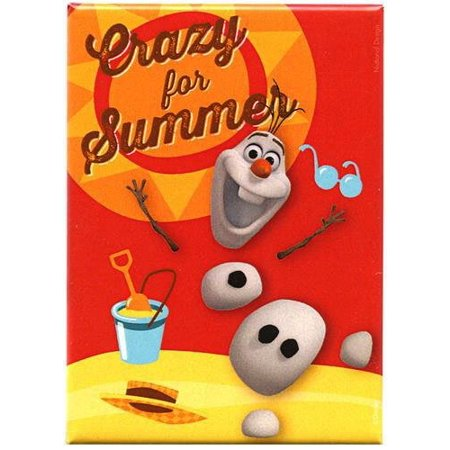 Frozen Magnet: Crazy for Summer Olaf, Officially Licensed Products Assorted Artworks - Size - 3.5