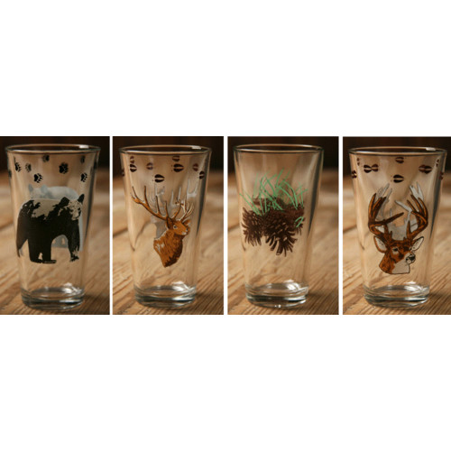 West Creation 20 Oz. Wilderness Mixing Glass (Set of 4)