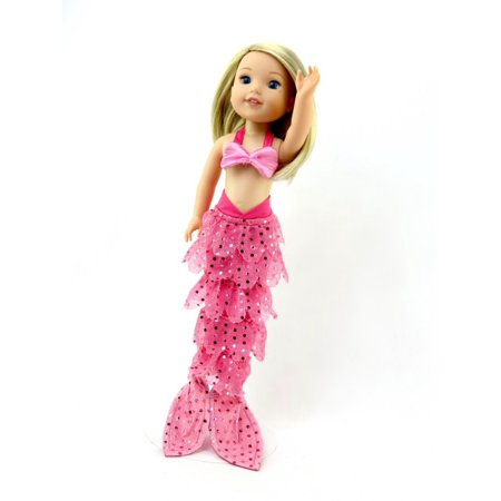 Hot Pink Mermaid Halloween Costume | Fits 14