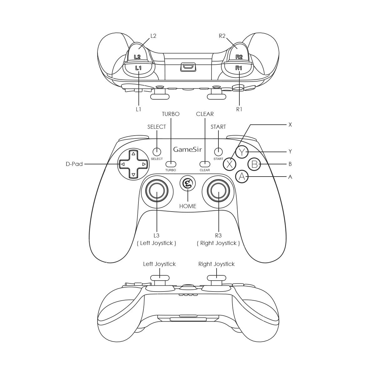 Gamesir G3w Wired Pc Controller For Windows 108 187androidps3