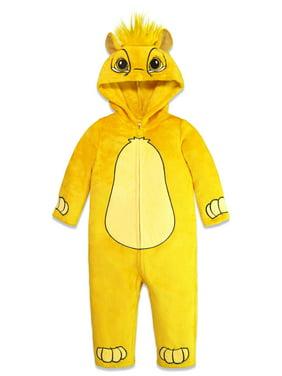 Disney Lion King Simba Toddler Boys Fleece Hooded Costume Zip-Up Coverall 3T