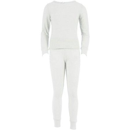 63ab195b3a8a SLM Therma Tek - SLM Therma Tek Girl's 100% Cotton Thermal Underwear Two  Piece Set - Walmart.com