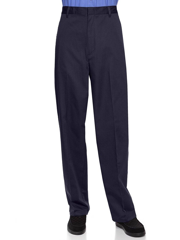 AKA Half Elastic Flat Front Men's Slacks Big Sizes Available