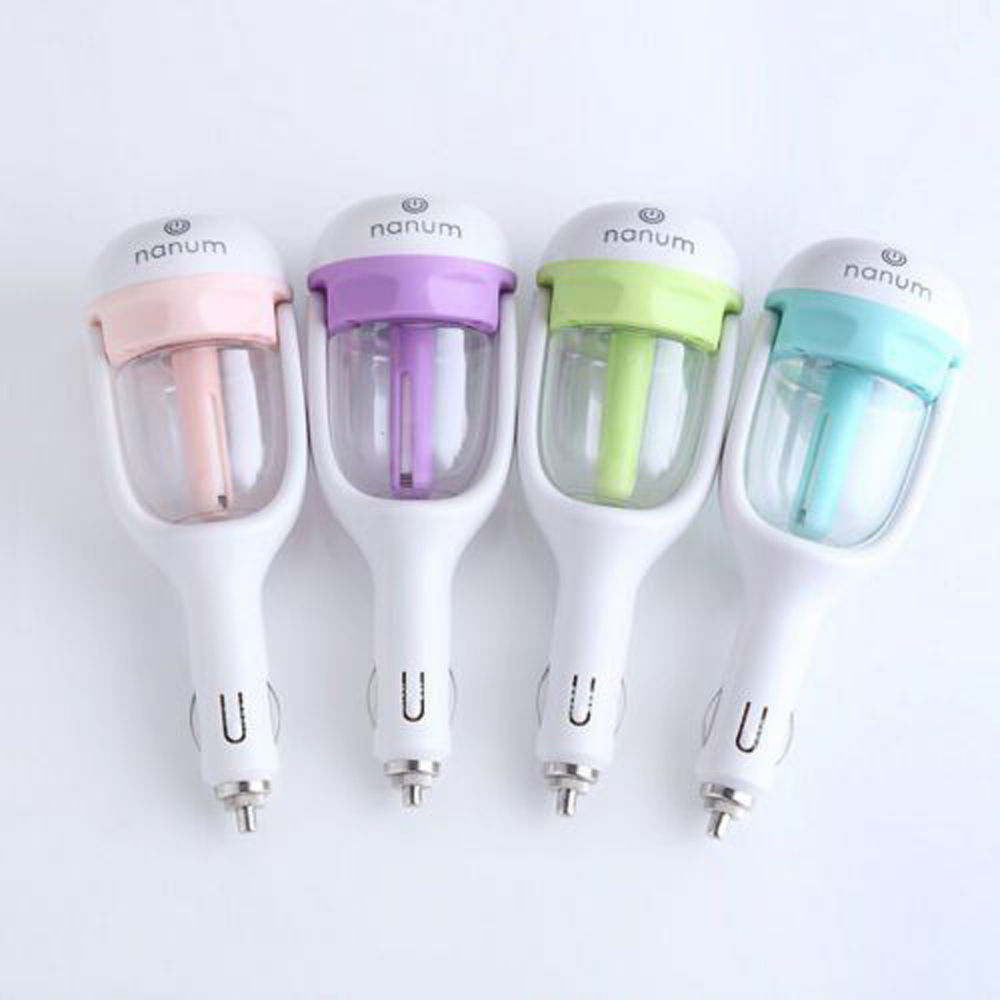 Ktaxon Car Air Humidifier Diffuser Essential Oil Ultrasonic Aroma Mist Purifier,Green,Blue,Purple,Pink