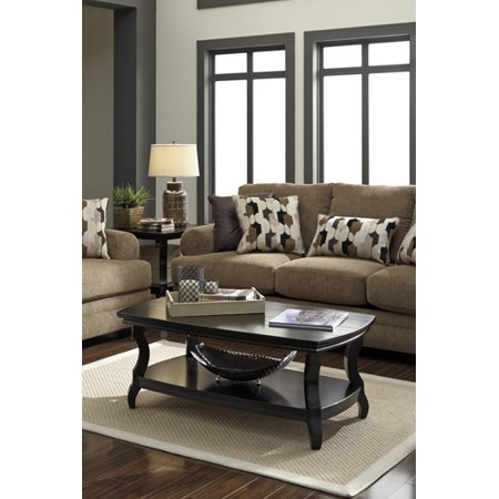 Tellbane Coffee Table.Ashley Tellbane Black Rectangular Cocktail Table T584 1 Walmart Com