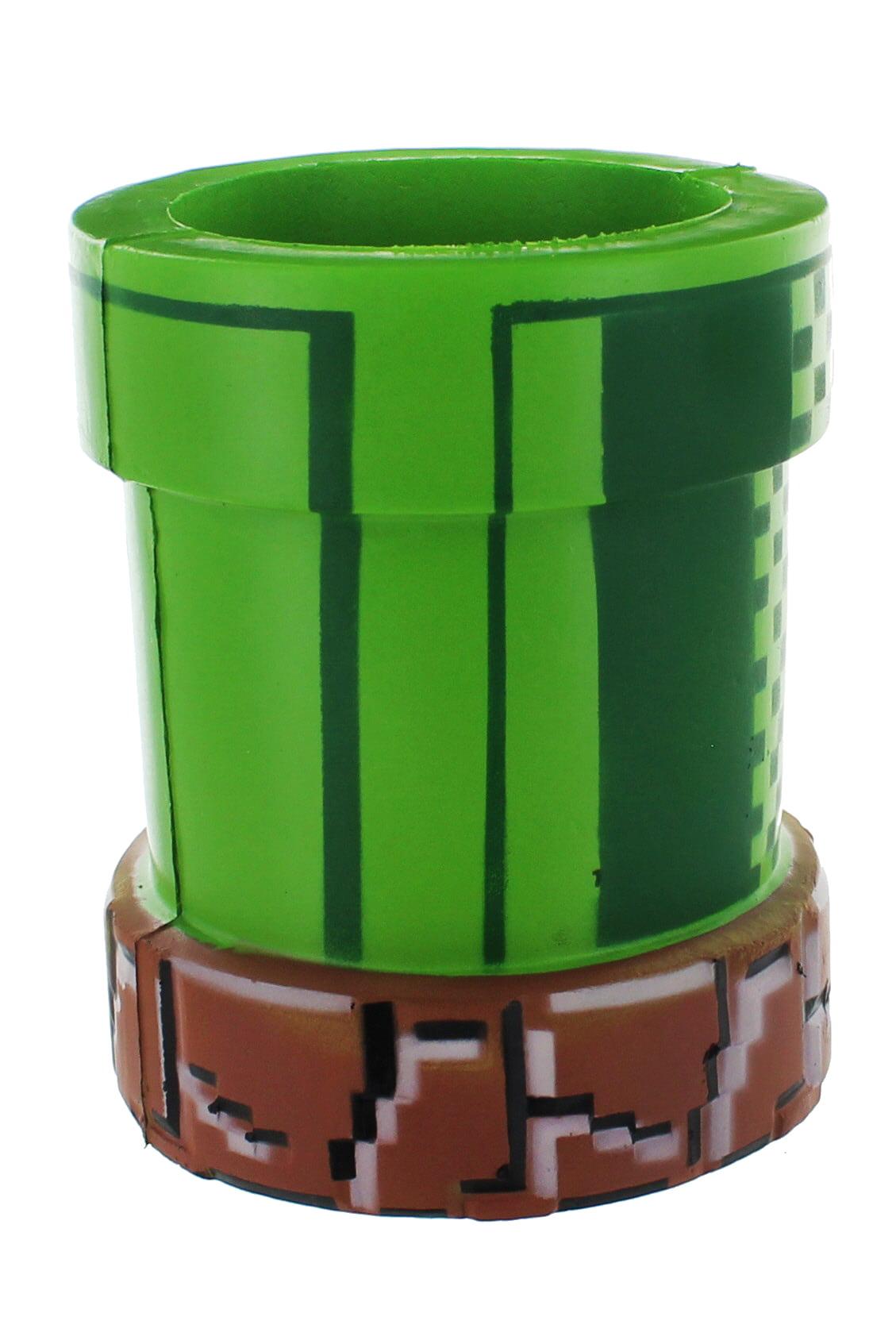 Nintendo Super Mario Bros Warp Pipe Foam Can And Bottle