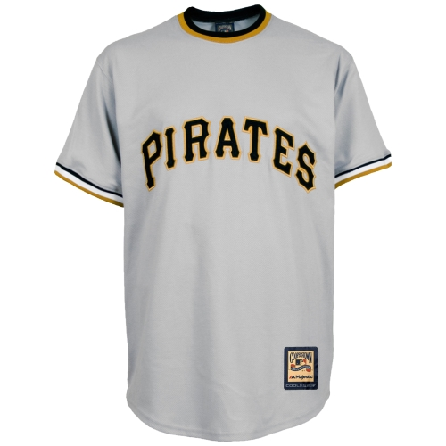 Pittsburgh Pirates Majestic Cooperstown Cool Base Team Jersey - Gray