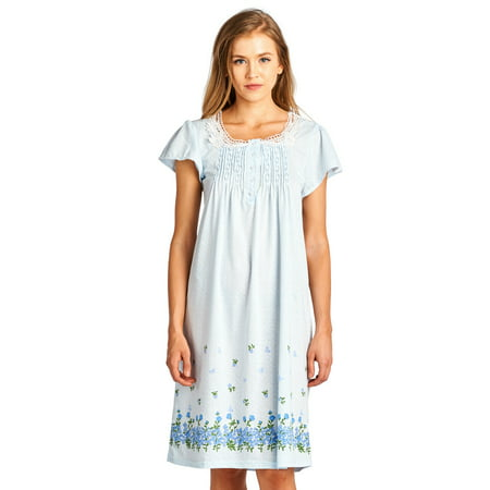 Casual Nights Women's Fancy Lace Flower Short Sleeve - White Cap And Gown