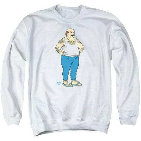 Trevco CN867-AS-1 Aqua Teen Hunger Force & Carl by Adult Crew Sweatshirt, White - Small](Carl Aqua Teen)