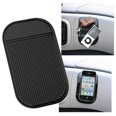 Wideskall® Multi Purpose Non-Slip Silicone Pad Sticky Grip Mat for Car Dash Phone Mount ()