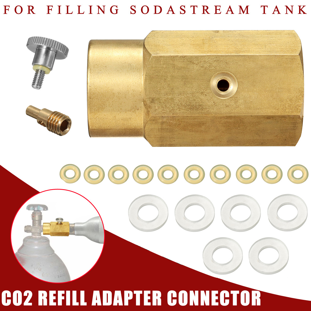 Zylinder Nachfüllung Station Fülladapter für Sodastream CGA320 Co2 Tank