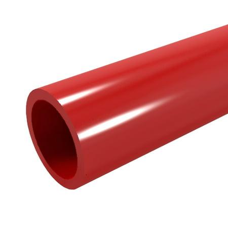 FORMUFIT P001FGP-RD-5 Schedule 40 PVC Pipe, Furniture Grade, 5-Feet, 1