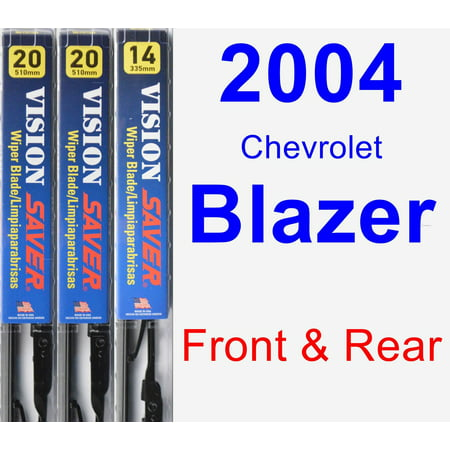 Chevrolet Blazer Wiper Motor (2004 Chevrolet Blazer Wiper Blade Set/Kit (Front & Rear) (3 Blades) - Vision Saver )