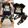 Newborn Kids Baby Boys Tops T-shirt Camo Pants 2PCS Outfits Set Clothes 0-5Years