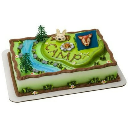 Camping Adventure Cake Topper Decorating Kit