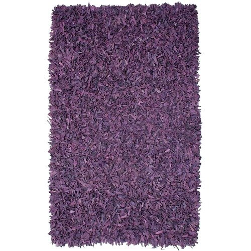 St. Croix Pelle Leather Purple Area Rug