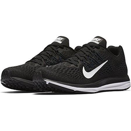 newest de4bc 3dde9 Nike Women's Air Zoom Winflo 5 Running Shoes Black/White-Anthracite, 7.5