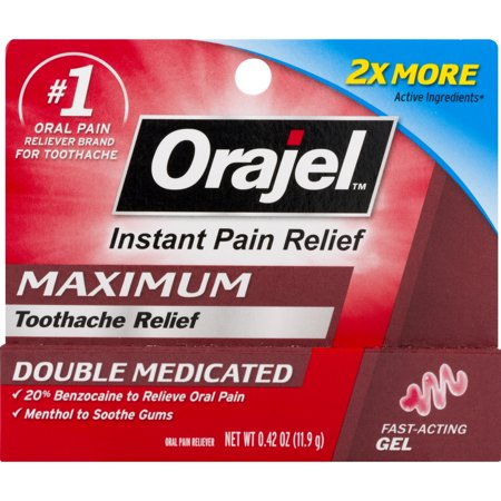 Relief Oral Solution (Orajel Maximum Toothache Relief Double Medicated, 0.42 OZ)