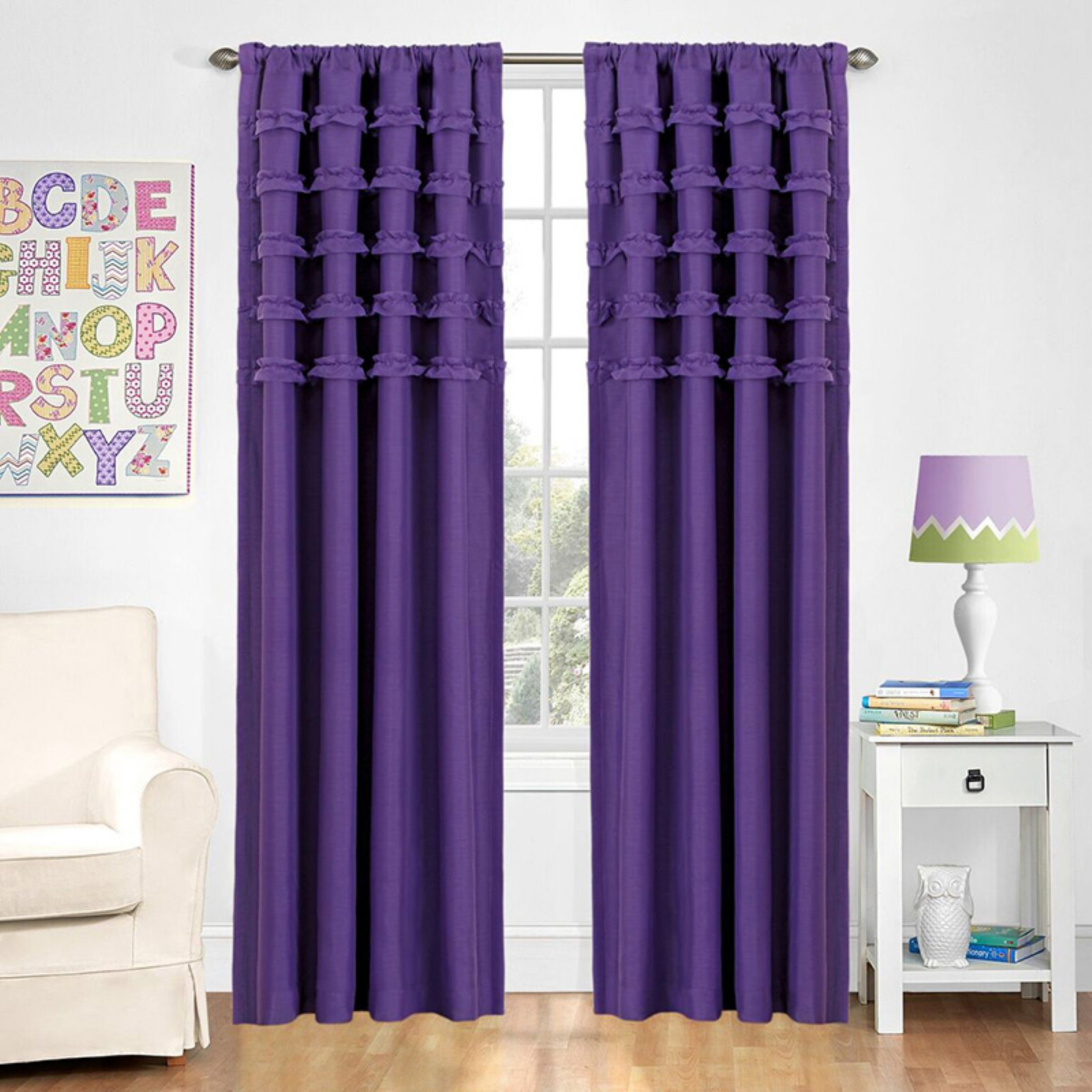 Eclipse Ruffle Batiste Blackout Window Curtain Panel