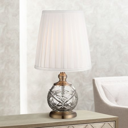 Regency Hill Traditional Accent Table Lamp 15 High Crystal Sphere