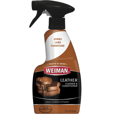 Weiman Leather Cleaner and Conditioner - 12 Ounce - For Car Auto Furniture Purse and