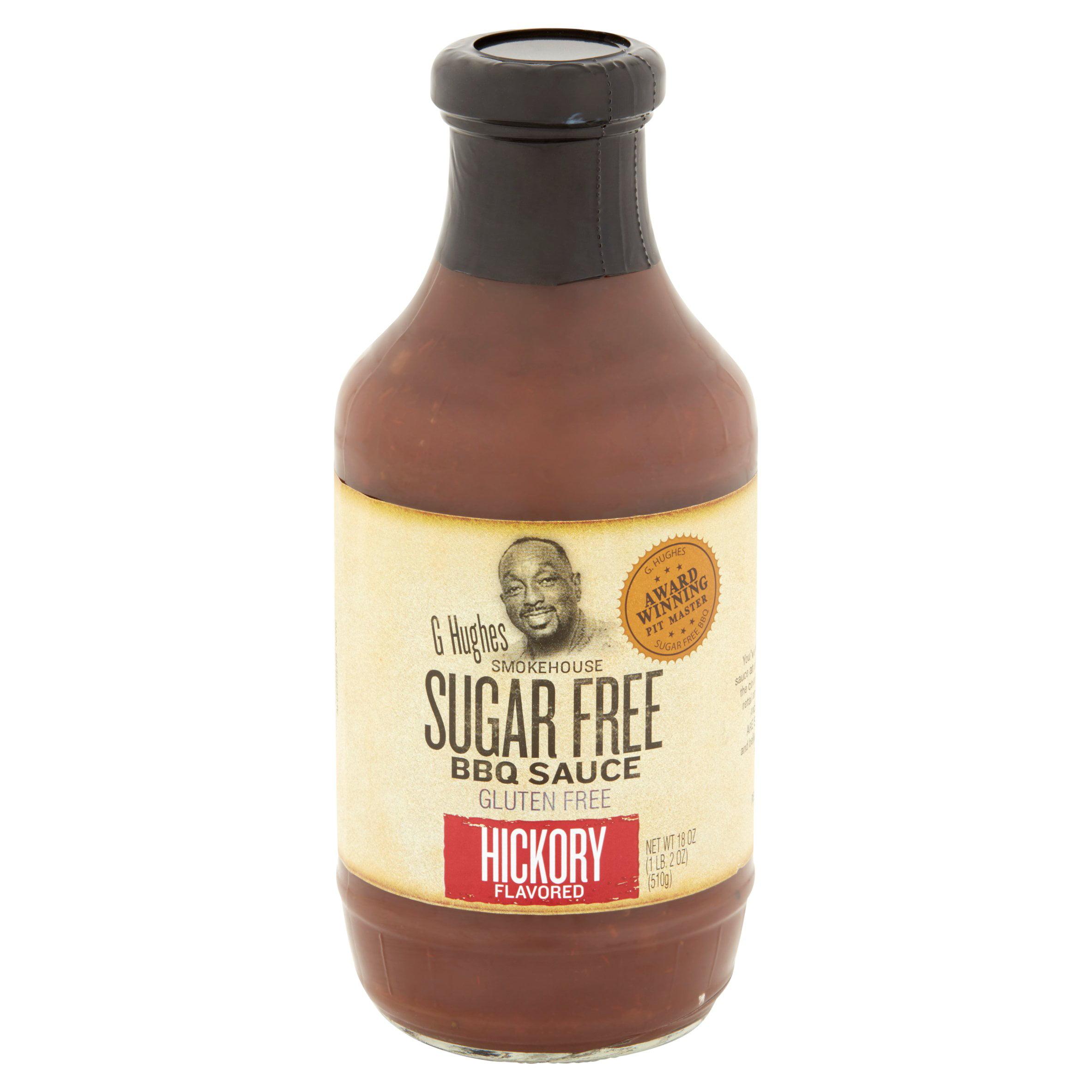 Barbecue Sauce For Sale Part - 34: G Hughes Smokehouse Sugar Free Hickory Flavored BBQ Sauce, 18 Oz -  Walmart.com
