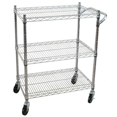 3 Shelf Plastic Utility Cart - Oceanstar 3 Tier Heavy Duty All-Purpose Utility Cart