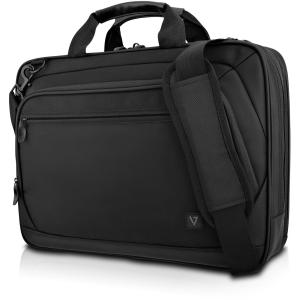 V7 15.6in Topload Case 2 Compartment Carrying Case Trolley Black