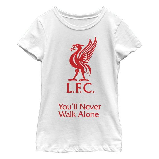 Liverpool Fc Girl S Liverpool Football Club Bird Logo Never Walk Alone T Shirt Walmart Com Walmart Com