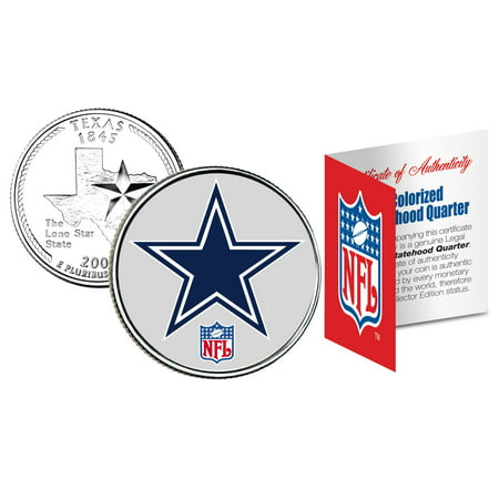 DALLAS COWBOYS NFL Texas U.S. Statehood Quarter U.S. Coin *Licensed* - Halloween Stores In Dallas Texas