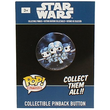 Funko Collectible Pinback Button - Classic Star Wars - LUKE SKYWALKER, PRINCESS LEIA & HAN SOLO](Leia And Han)